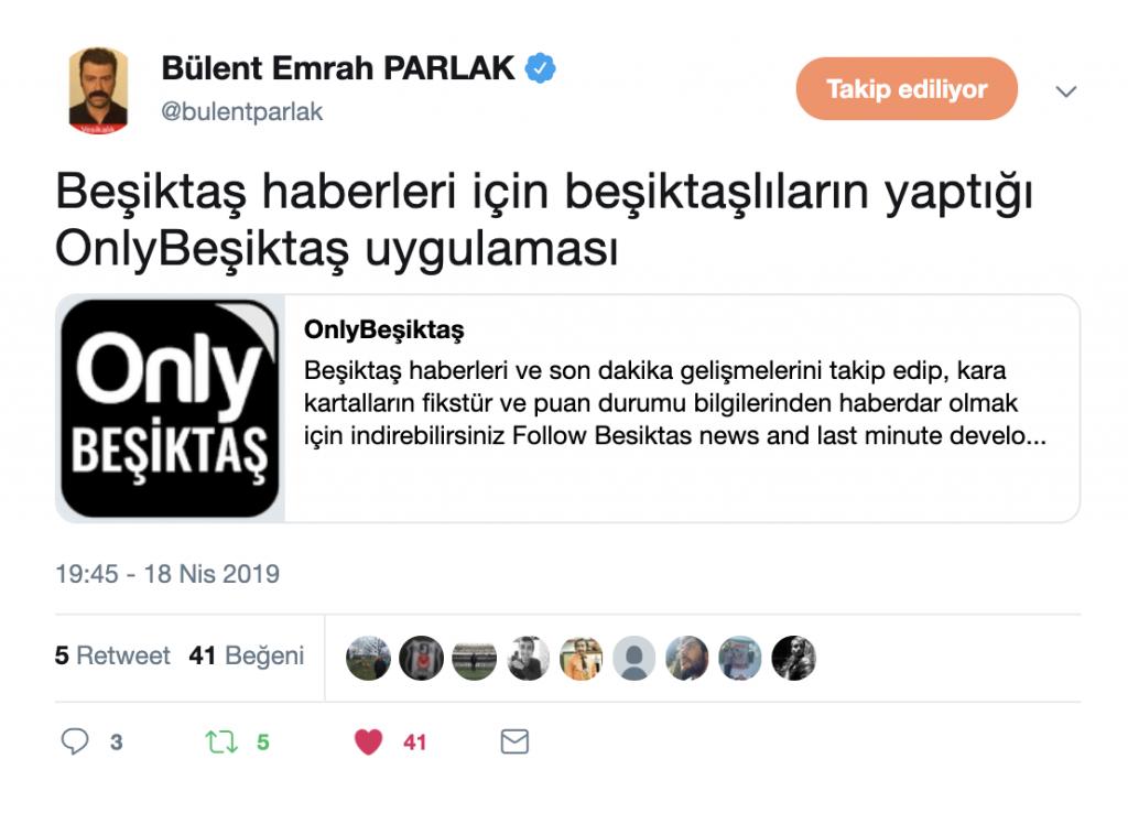 Bülent Emrah Parlak Tweet