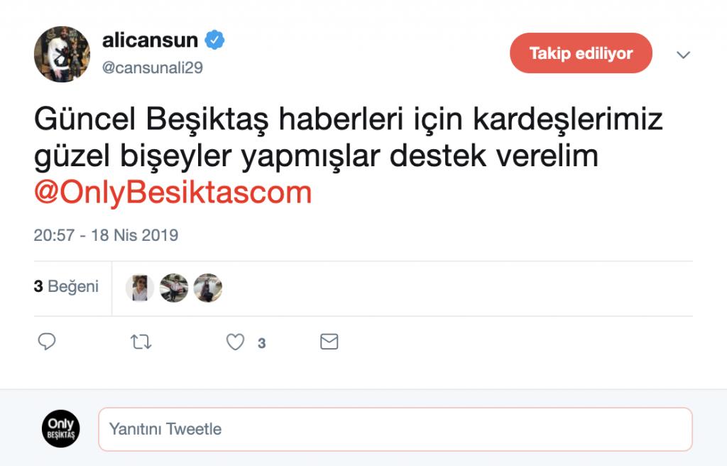 Ali Cansun Tweet