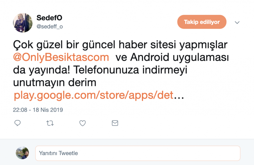 Sedef Orman Tweet